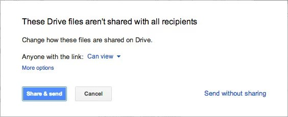 Gmail and Google Drive attachment Permission