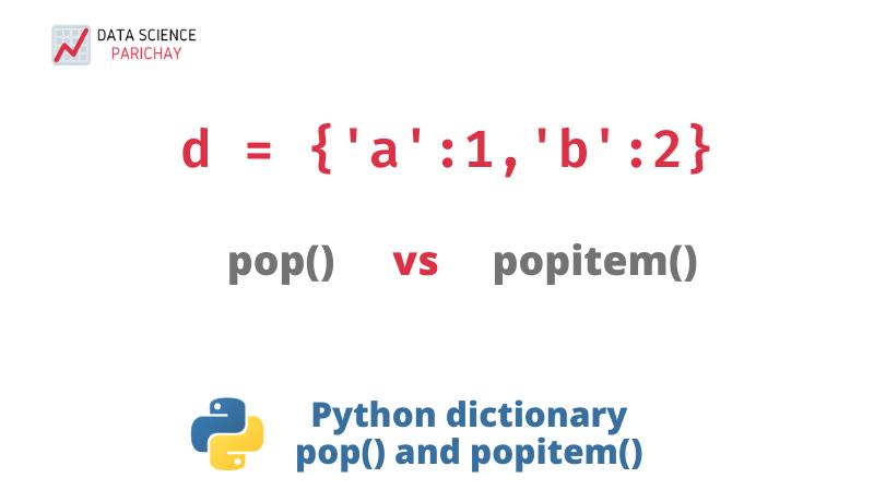 python dictionary pop vs popitem function banner
