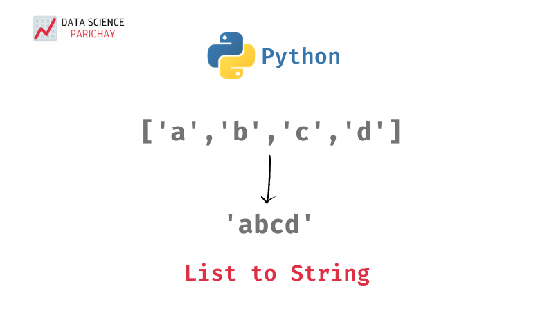 python list with four string elements to a single string
