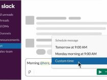 Slack is bringing a new 'Scheduled Send' feature