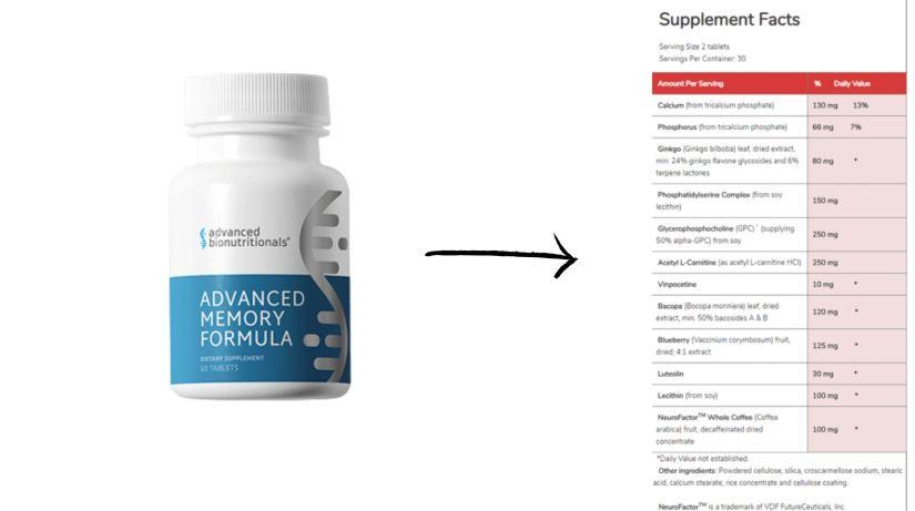 Advanced Memory Formula Dosage