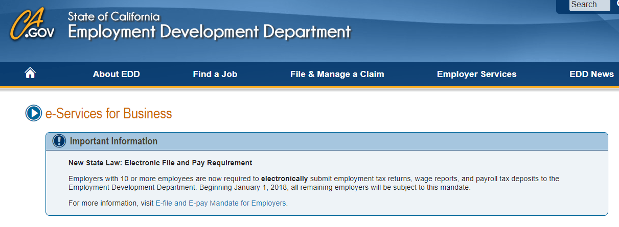 E-File mandate includes all employers beginning January 1
