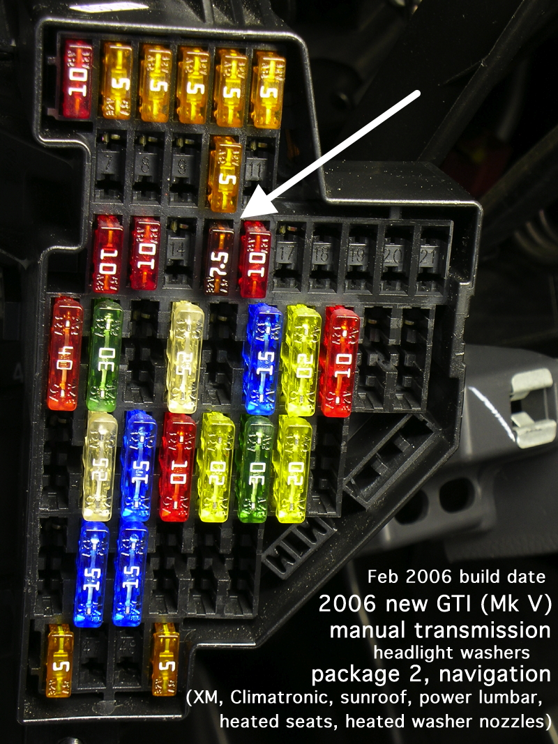 mk5 golf gti interior light fuse