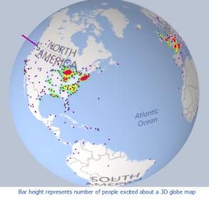 Power BI Globe Map