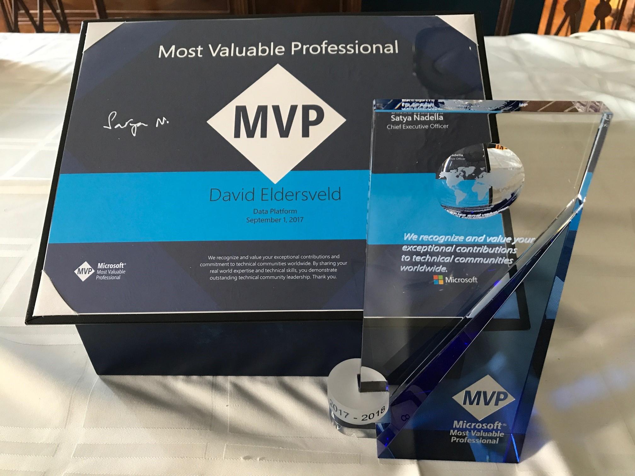 In Gratitude for a Microsoft MVP Award