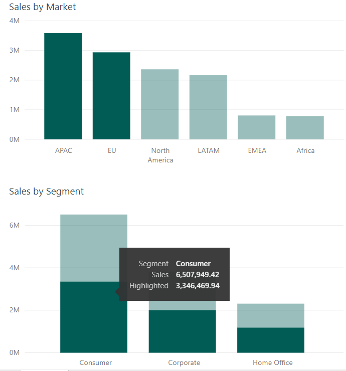Tableau to Power BI: Highlighting with Set Actions