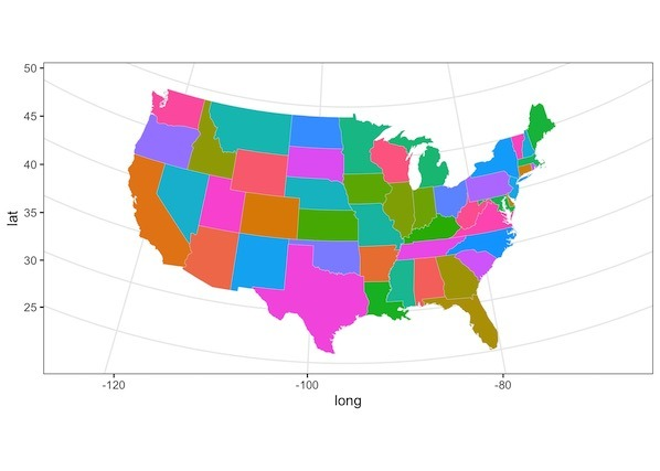 Us State Map In R How To Make US State and County Level Maps in R?   Data Viz with