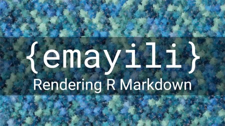 {emayili} Rendering Plain Markdown