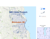 500 Cities: Milwaukee Wisconsin Map Book