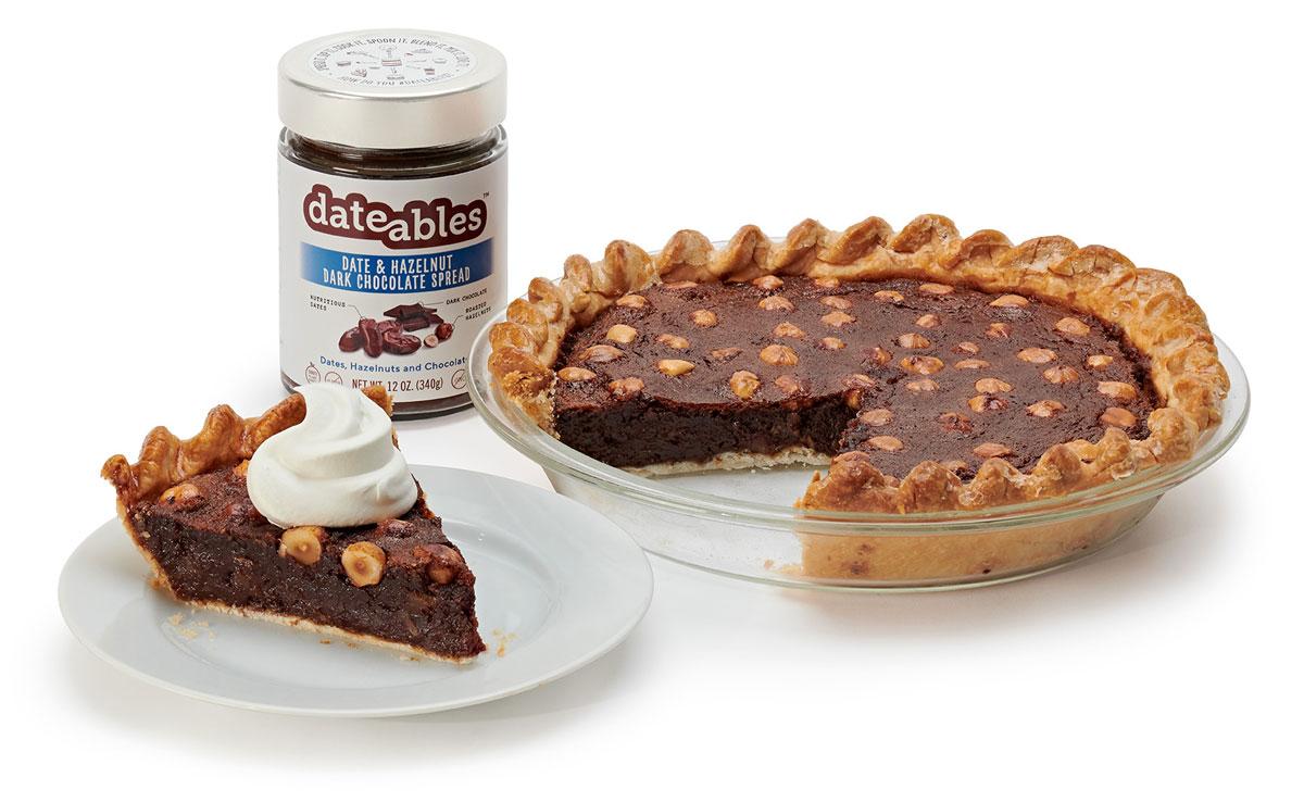 Dark Chocolate Hazelnut Pie