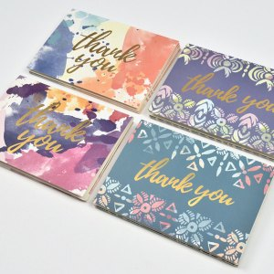 Boxed thank you card set.