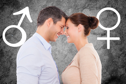 Man and woman deciding when to have sex
