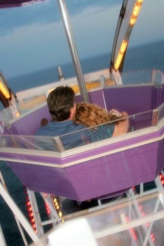 Bobbi and Larry Palmer on ferris wheel