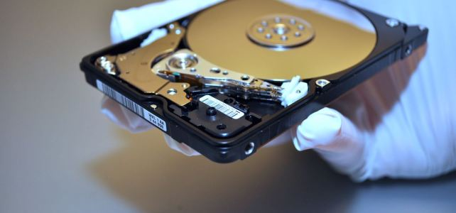 Festplatte aus Frankfurt Sturz. Datenrettung erfolgreich.
