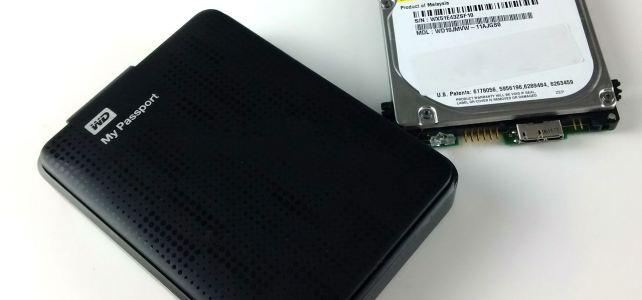 WD My Passport Daten retten. Verschlüsselte Festplatte.
