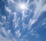 Sommerhimmel - die Temperatur steigt.