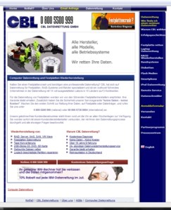 Homepage CBL Datenrettung