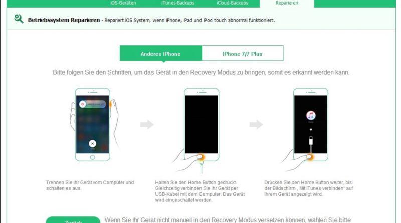 iPhone Daten retten. Auch bei Display Schaden.