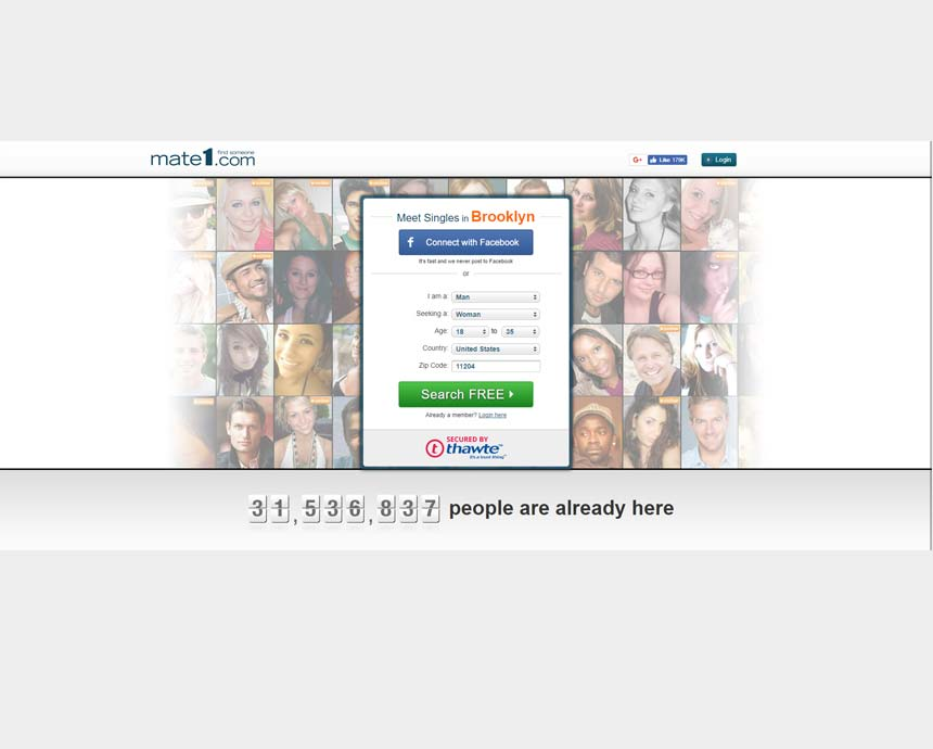 mate1.com website