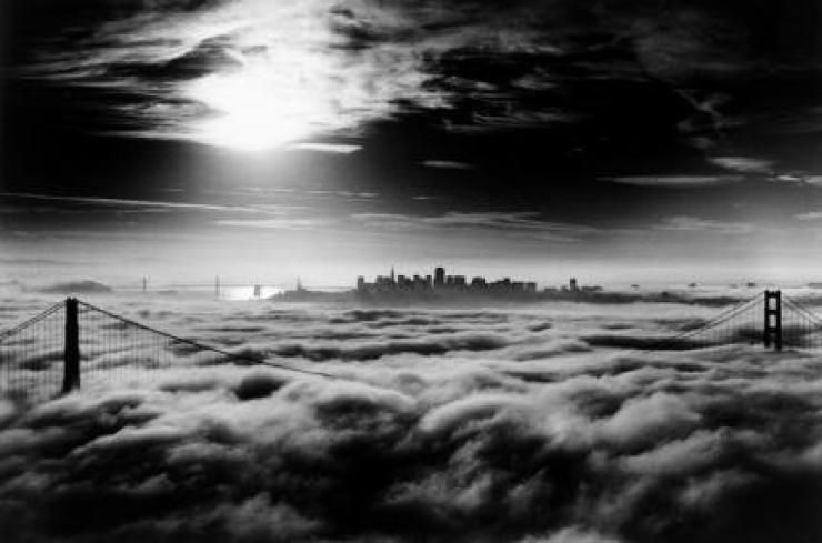 black white photo san francisco