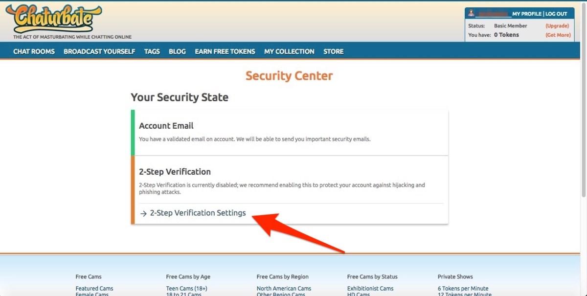 chaturbate 2 step verification