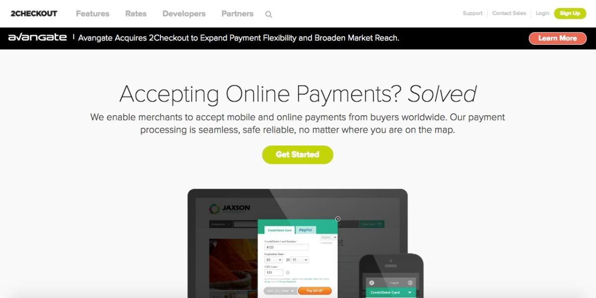 2checkout payment service provider