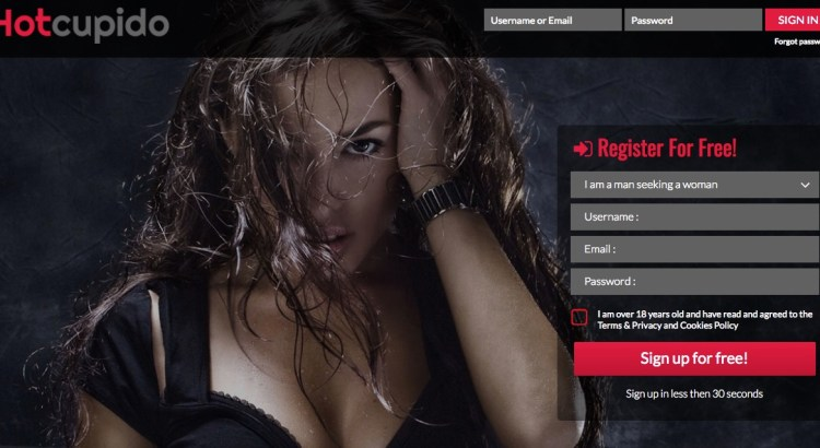 hotcupido sign up page - HotCupido Adult Dating Site Review