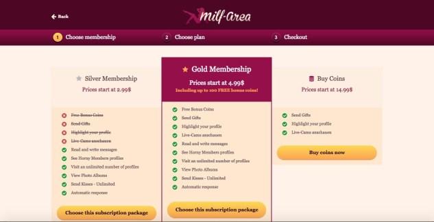 milf area membership