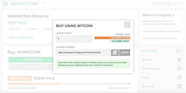 buy wankcoin with bitcoin btc