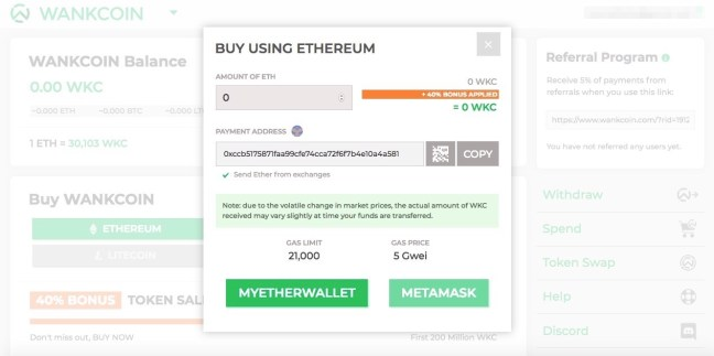 buy wankcoin with ethereum eth