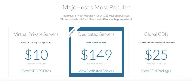 mojohost pricing