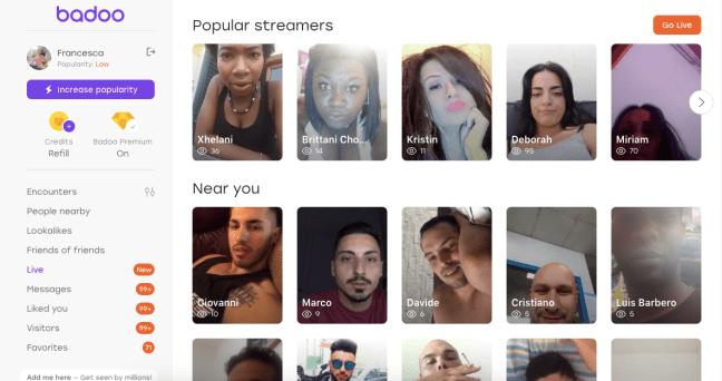 badoo streamers