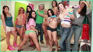 A Bunch Of Hot Piece Of Ass College Girls Having A Gang Bang