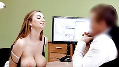 Massive Tits Girl In Need Of Money Sucking A Dick For Some Cash