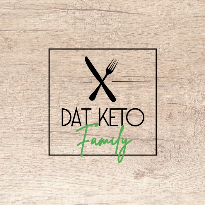Dat Keto Family Logo, Wood Backing