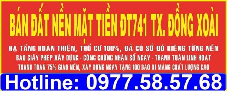 ban-dat-nen-mat-tien-DT741-tx-dong-xoai-dat-nen-binh-phuoc-gia-re Dự án khu dân cư Thuận Phú Đồng Xoài - Bình Phước