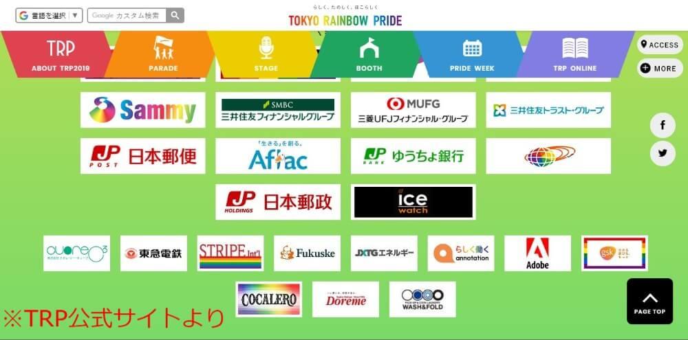 TRPも、今では「三井住友」「三菱UFJ」などの名だたる企業から協賛を受けるまでになっており、その支持母体の強さ・大きさが伺えます。