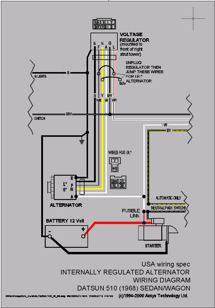 Nissan Frontier Fuse Box Diagram as well P 0996b43f80388ac2 together with Chevy 4 3 Vortec Engine Diagram further Datsun 510 Wagon Wiring Diagram also Photo 01. on datsun alternator wiring