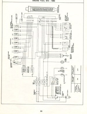 Datsun Electronic Fuel Injection  Wiring Diagrams