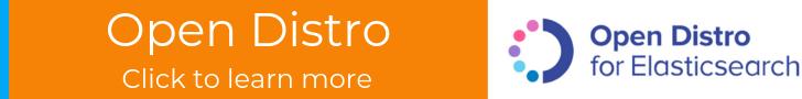 Open Distro homepage