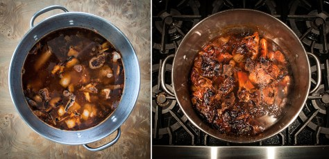 The stock pot before and after.