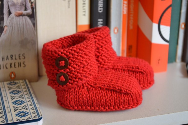Ankle High Booties - free knitting pattern. www.daughterofaseamstress.com