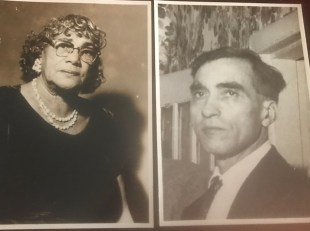 Big Mama and Papa Joe. separate pics side by side