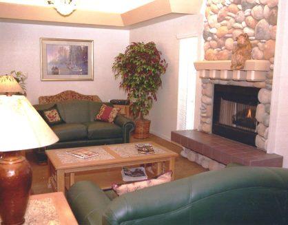 Office Decor | Tahoe Senior Plaza Fireplace