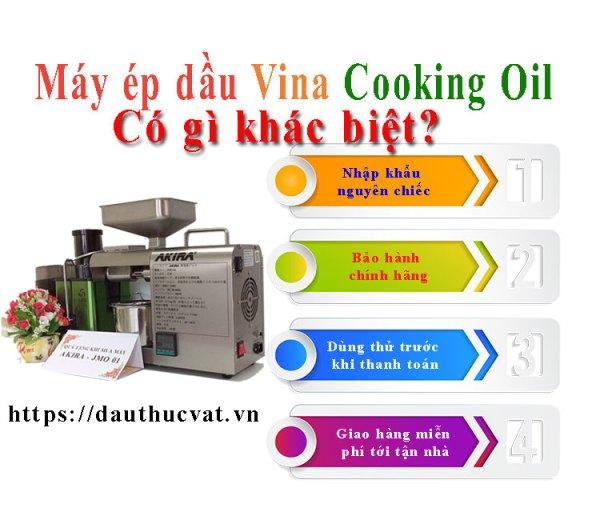máy ép dầu ăn sạch vina cooking oil