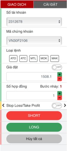 đặt lệnh trên mèn hình đặt lệnh web SmartPro