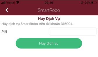 Hủy đăng ký smartrobo trên app smartone