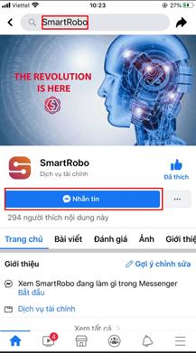 Tương tác với SmartRobo trên Facebook