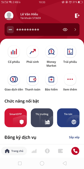 ứng tiền trên app SmartOne