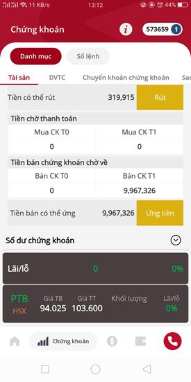 cách ứng tiền trên app SmartOne